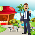 Happy Businessman Rescue Games4King
