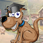 Happy Graduated Dog Escape Games4King