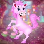 Happy Pink Horse Escape Games4King