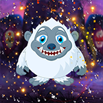 Languid White Monster Escape Games4King