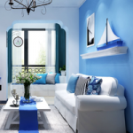 Light Blue Living Room Escape FunEscapeGames