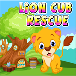 Lion Cub Rescue Games4King