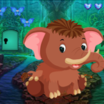 Little Mammoth Rescue Games4King
