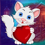 Lovely Heart Cat Escape Games4King