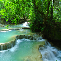 Luang Brabang Waterfall Puzzle OceanDesJeux