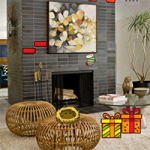 Modern Fireplace Christmas Escape GenieFunGames