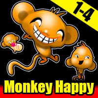Monkey Happy Stage 1 To 4 PencilKids