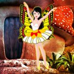 Mushroom Forest Butterfly Girl Escape Games2Rule