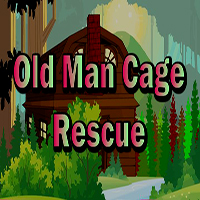 Old Man Cage Rescue TheEscapeGames