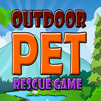 Outdoor Pet Rescue Game MeenaGames