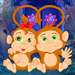 Pair Monkey Rescue Games4King