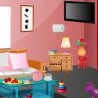 Pale Pink House Escape EscapeGamesToday