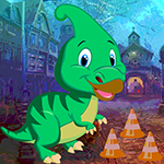 Parasaurolophus Dinosaur Escape Games4King
