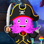 Pirate Octopus Rescue Games4King