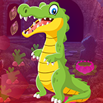 Pretty Crocodile Rescue Games4King
