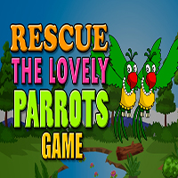 Rescue The Lovely Parrots Game MeenaGames