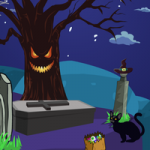 Scary Graveyard Escape 3 GenieFunGames