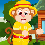 Simian Monkey Rescue Games4King
