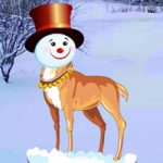 Snow Head Reindeer Forest BigEscapeGames