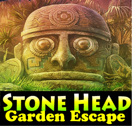 Stone Head Garden Escape Games4King