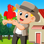 Stylish Boy With Parrot Rescue Games4King