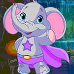 Superhero Elephant Rescue Games4King
