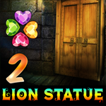 Two Lion Statue Cave Escape Games4King