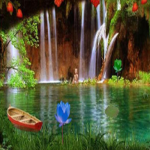 Waterfall Baby Rescue 8BGames