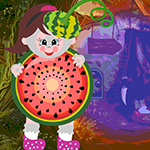 Watermelon Girl Rescue Games4King