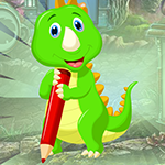 Writing Green Dinosaur Escape Games4King